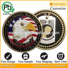 US Grateful Nation Metal challenge Pow MIA coins