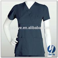 nurse uniform latest fashion 100% polyester scrub