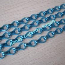 Blue Decorative Aluminum Hanging Metal Chain Curtain