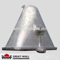 fundición de acero escoria olla de aluminio para la metalurgia