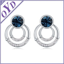 Lady gold crystal earring, fashion earring design new model earrings