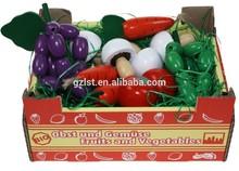 Factory sales carton packaging box for vegetable/la frutas carton