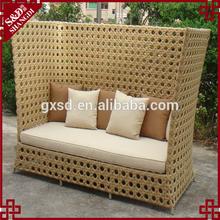 hotsale 2014 high back waterproof rattan sofa furniture