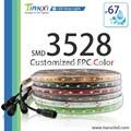 renkli pcb smd 3528 su geçirmez UV 12v led şerit ışık