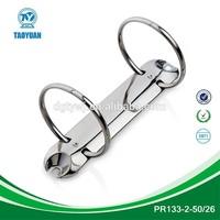 China stationery market hinge ring clip, 2 ring binder mechanism