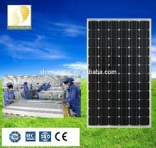 Shine good price high efficiency 200w monocrystalline solar panel and solar module with CE TUV