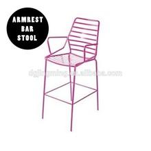 Indoor Outdoor Metal Wire Armrest Counter Bar Stool Chair