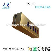 Blue Led Light Pen Holder 4 Ports USB Hub with LED director