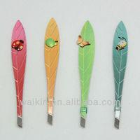 Lady tweezers eyebrow tweezer cute leaf design tweezers