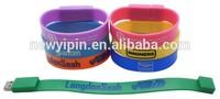 cheap usb flash drive bracelets, company gift silicone usb bracelet 8GB, wristband usb China manufacturer