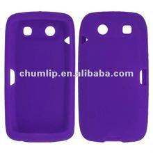 purple silicon case for blackberry 9860
