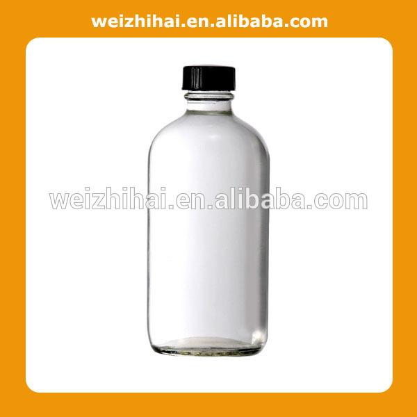 Clear Boston Round Bottle