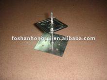 Goupille auto-adhésive en aluminium, goupille avec l'adhésif