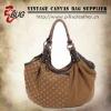 Cotton Canvas hand Bag For Women wholesale with rivets decoration