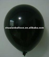 12 inch black latex balloon