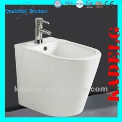 Black to Wall Floor Mounted Water Toilet Bidet