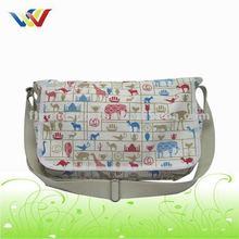 Animal design Canvas Messenger Shoulder Strap Book Bag