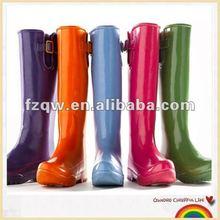 Bright color waterproof PVC rain boots brand women shoes