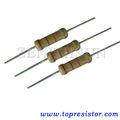 Película carbón fijado resistores