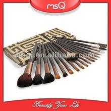 OEM/ODM goat/ horse hair 18pcs make-up brushes professional set