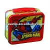 Spider shape man lunch tin box packing,tin can manufactures
