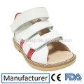 couro leve médicos ortopédicos crianças sandálias