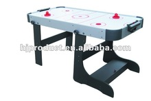 Folding kids air hockey table with free pushers and puckers