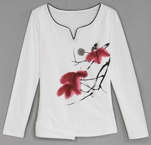 Latest t shirt designs for women 2012 , new style full print t shirts for ladies,