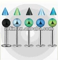 Fashion cool titanium anodized lip labret ring body piercing jewelry