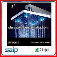 LED temperature indicator shower