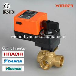 24VAC/DC 2-way DN50 electric water flow control valve,3 way valve and actuator