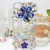 Luxury Bling Rhinstone Flowers Designer Cell Phone Cases for Wholesale