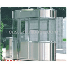 Access control car parking stainless steel house & mobile sentry box & steel sentry house for car parking management