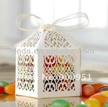 Laser cut filigree Wedding decoration favor gift box
