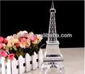 Transparentes cristal de la torre Eiffel para parís Souvenirs