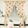 Sheer with Lining and Eyelets Simple Organza Jacquard Sheer Curtain