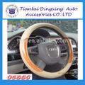 Madeira de alta qualidade PVC volante de direção PU abrange conjuntos de cinto de segurança carros para venda