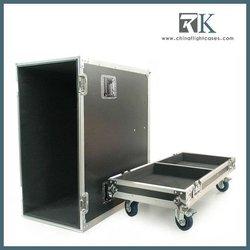 Blue Speaker Rack Case, with casters and foam for 2 JBL Speaker