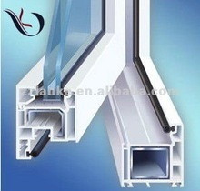 Double glazed extruded pvc profile for window sample