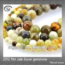 Hot sale natural stone 6-12mm round bead New Jade gemstone bead