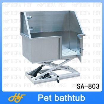 Stainless steel electric lifting bathtub,dog bathtub,pet bathtub SA-803