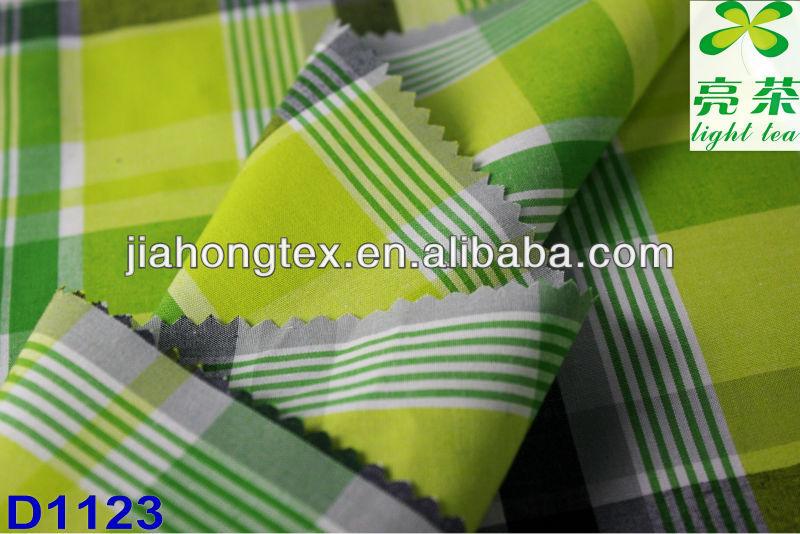 cvc 45*45 120*80 yarn dyed checked fabric
