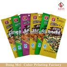 Best sale!plastic packaging film for milk candy/chocolate three side seal food packaging
