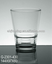 machine pressed drinking glass cup