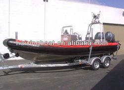 high quality deep-v aluminum rib boat,aluminium floor with central control