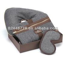 2013 luxury corporative gift with travel pillow,sleep eye mask,envelop wash bag travel set