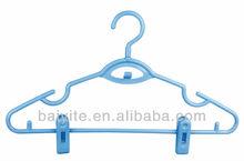 plastic hanger with two pegs,multifunction hanger,padded trouser hanger
