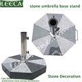 al aire libre de piedra base de paraguas