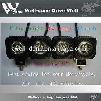 9-50V IP68 Free-Link Cree 10w LED Motorcyle, 4x4 Light, Work Light