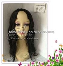"Beauty and health 18"" natural wave natural color christmas hair u part wig"